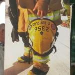 Great photo of the fireman next door.