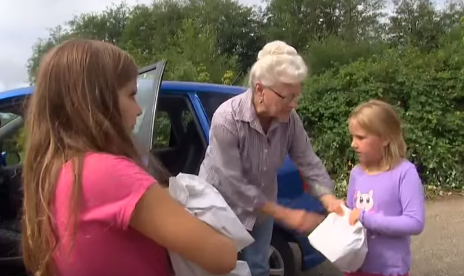 Great Grandmother Helps Needy Children