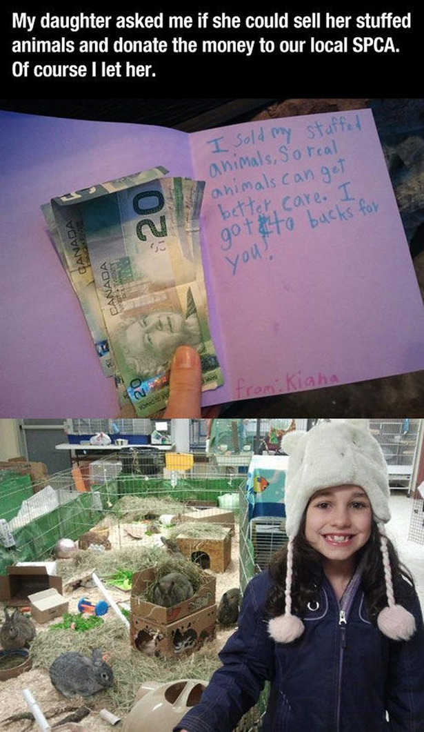 Daughter sells stuffed animals to donate