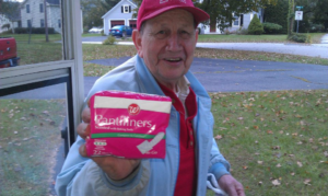 A man on a fixed income, Laddie goes to the Post Office in the morning to find some canned foods for his cupboards. He showed up at my door proud of his score on this particular morning. He said, Free Toilet Paper at the Post Office! It was Panty Liners. :)
